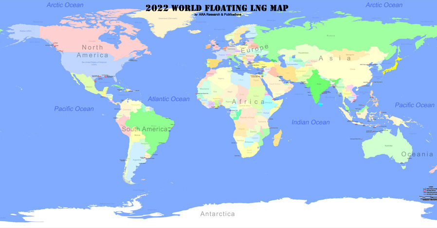 ARA Research & Publication - 2020 World Floating LNG Map